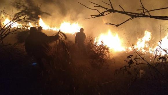 El COER advierte que aquellos que provoquen un incendio pueden ser condenados a prisión. (Foto: cortesía Pallasca Informa)