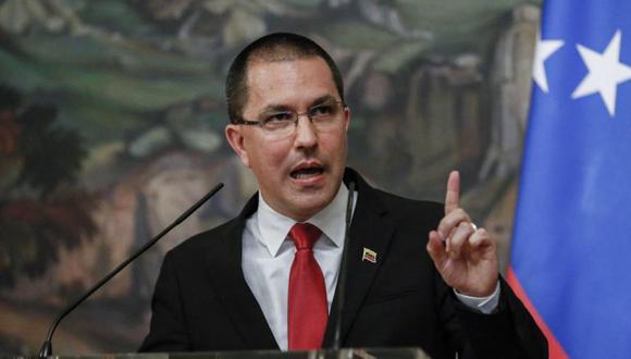 El canciller venezolano, Jorge Arreaza, se pronunció a través de su cuenta de Twitter. (Foto: YURI KOCHETKOV / POOL / AFP)