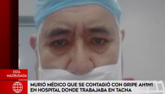 Manuel Guevara fue trasladado desde Tacna para ser atendido en una clínica de Lima. (América TV)