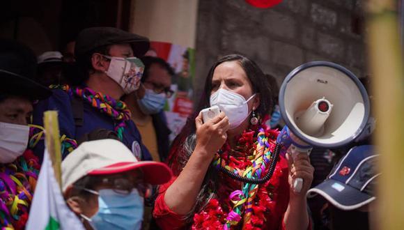 Verónika Mendoza tiene el 6% de intención de voto, según la última encuesta de El Comercio-Ipsos. En el sur del país tiene 10%. (Foto: Difusión)