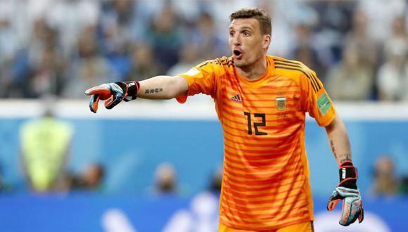 Franco Armani atajará en los partidos contra Chile y Colombia por las Eliminatorias. (Foto: Agencias)