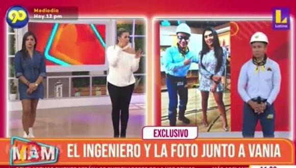 Ingeniero bailarín aparece en TV y ofrece disculpas a Vania Bludau. (Foto: captura de video)