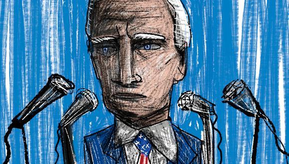 """""""Dado que el """"orden basado en reglas"""" nunca se define adecuadamente, la afirmación de Estados Unidos de defenderlo nunca puede ser refutada"""" (Ilustración: Giovanni Tazza)."""