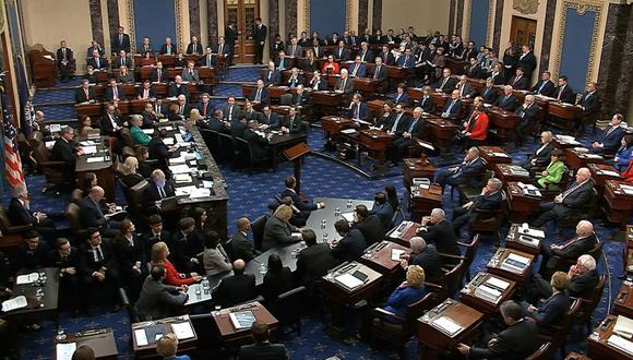 Juicio político contra Donald Trump concluye con votación en el Senado de Estados Unidos. (Foto: AP).