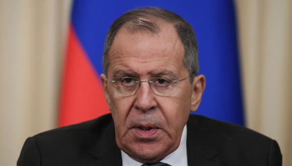 """Serguei Lavrov, de Rusia, advierte a Mike Pompeo, de Estados Unidos, contra """"uso de la fuerza"""" en Venezuela. Foto: Archivo AFP"""