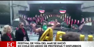 Inicio de Festival de Viña del Mar fue empañado por protestas y enfrentamientos