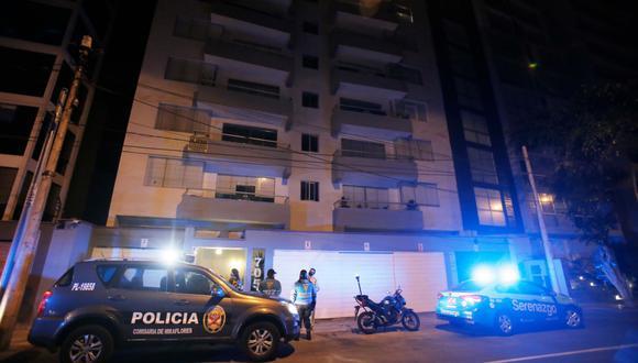 Mujer muere tras caer del séptimo piso de edificio ubicado en Miraflores. (Foto: César Grados/@photo.gec)