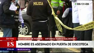 SMP: Asesinan a hombre en puerta de discoteca
