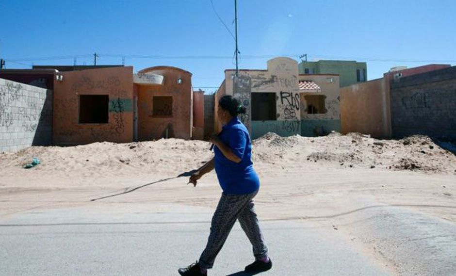 Ciudad Juárez, Chihuahua, es uno de los sitios donde la violencia provoca el abandono de casas. Foto: AFP