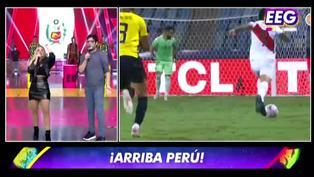 EEG: Johanna San Miguel se animó a narrar los goles de Perú