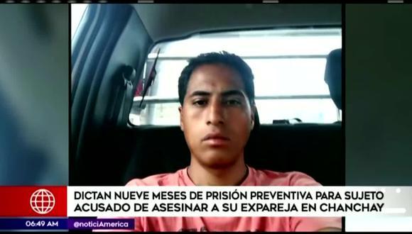 Maicon Ney Álvarez Caballero es investigado por ser el presunto autor del asesinato de su expareja y madre de su hijo. (Foto captura: América Noticias)