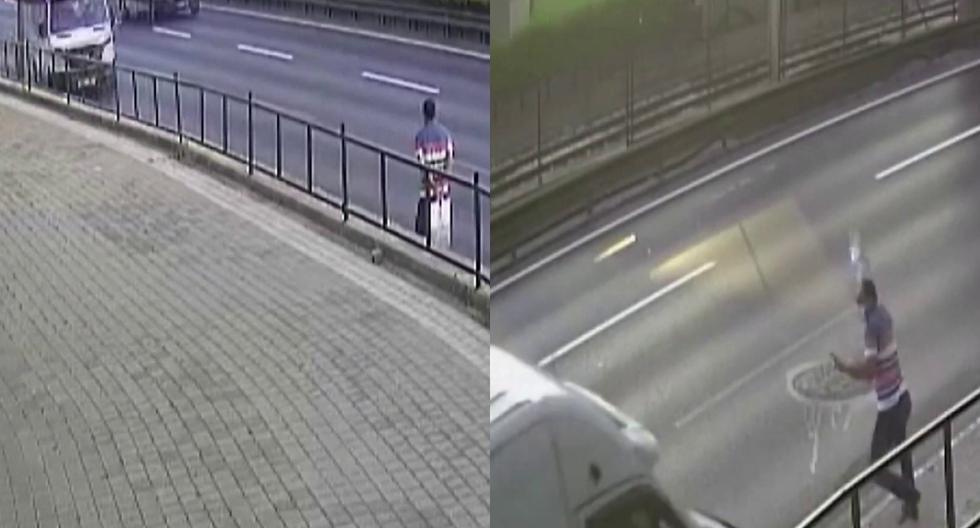 FOTO 1 DE 5 | Un video viral muestra cómo un hombre se salvó de morir atropellado por una minivan al saltar a un lado en el último segundo. | Crédito: Sunrise / Facebook. (Desliza a la izquierda para ver más fotos)