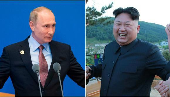 El presidente de Rusia, Vladimir Putin, y el líder de Corea del Norte, Kim Jong-un. (Foto:Reuters)