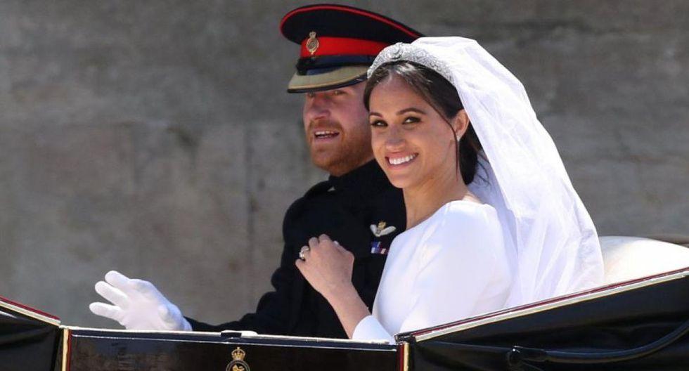 El príncipe Harry y la ex actriz estadounidense Meghan Markle se casaron el 19 de mayo del 2018 en Windsor, en una iglesia de San Jorge llena de celebridades. (Foto: AFP)