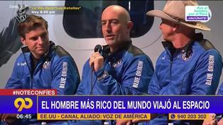 Jeff Bezos: El hombre más rico del mundo viajó al espacio