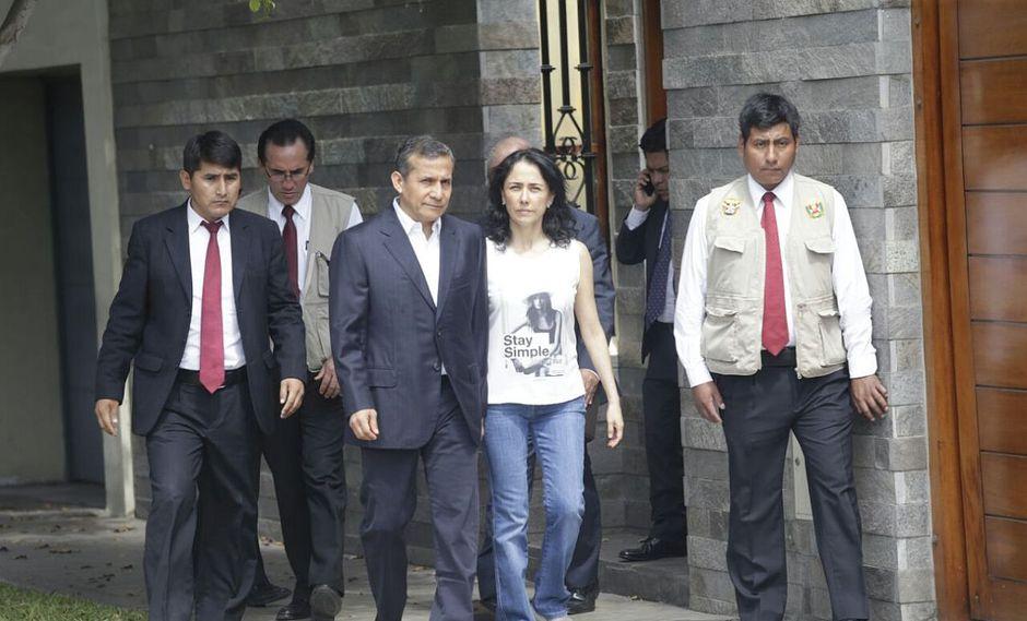 """El ex presidente Ollanta Humala y su esposa, Nadine Heredia, calificaron como """"un abuso"""" la incautación de su casa. (Foto: Hugo Pérez/ El Comercio)"""