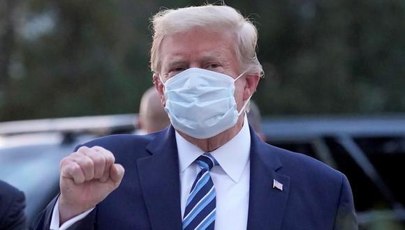 Donald Trump salió este lunes del hospital en el que estuve 72 horas. (EFE).