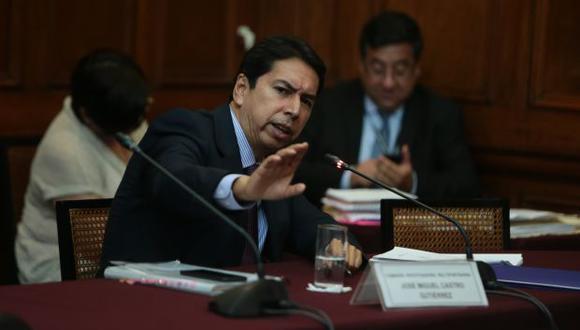 Sobre José Miguel Castro pesa un pedido fiscal de 36 meses de prisión preventiva. (Foto: Anthony Niño de Guzmán / GEC)