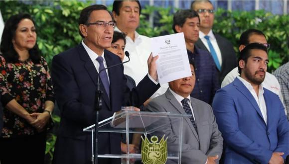 El presidente Martín Vizcarra informó sobre las medidas de su gobierno para enfrentar el coronavirus. (Foto: Presidencia)