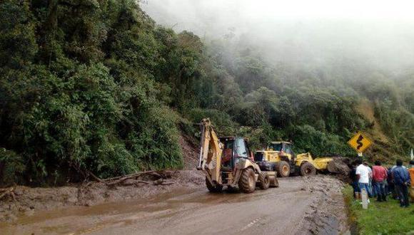 Huánuco: habilitan parcialmente siete tramos de Carretera Central tras huaicos