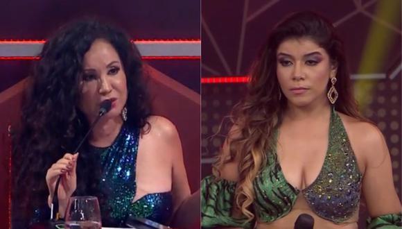 """Janet Barboza y su dura crítica a María Grazia Polanco en """"El artista del año"""". (Foto: Captura América TV)."""