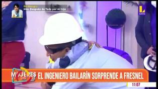 Ingeniero bailarín reaparece en TV y sorprende a niño que lucha contra la leucemia