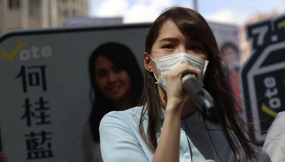 Hong Kong: la activista prodemocracia Agnes Chow es detenida bajo ley china de seguridad nacional. (Foto: May JAMES / May James / AFP).