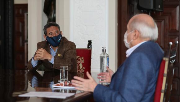 La reunión con Acción Popular se realizó este sábado, desde las 10 de la mañana. (Foto: PCM)