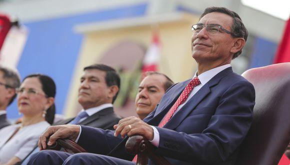 Martín Vizcarra señaló ayer que los peruanos han apostado por el diálogo y han rechazado la confrontación. (Foto: Presidencia)