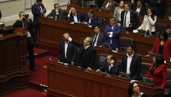 La bancada del Frente Amplio estuvo de acuerdo con la disolución del Parlamento. Durante la última sesión del pleno, se manifestaron a favor de esa medida. (Foto: GEC)