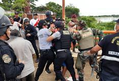 Tumbes: comerciantes que se resisten a regresar a sus casas se enfrentan a la policía en Aguas Verdes