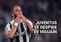 Juventus hace oficial la salida de Gonzalo Higuaín, quien llegaría a la MLS