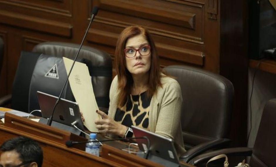 Mercedes Araoz, congresista de Peruanos por el Kambio, afirmó que no hay garantías en este proceso porque no se ha respetado su derecho de defensa. (Foto: Anthony Niño de Guzmán/ El Comercio)