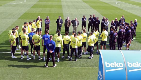 Barcelona suspendió sus entrenamientos hasta nueva orden por el coronavirus. (Foto: Twitter)