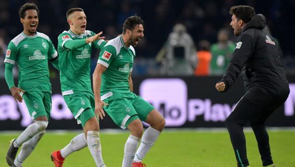Claudio Pizarro dio el empate sobre la hora al Werder Bremen en su duelo ante el Hertha Berlín. El peruano consiguió un nuevo récord en la Bundesliga (Foto: EFE)