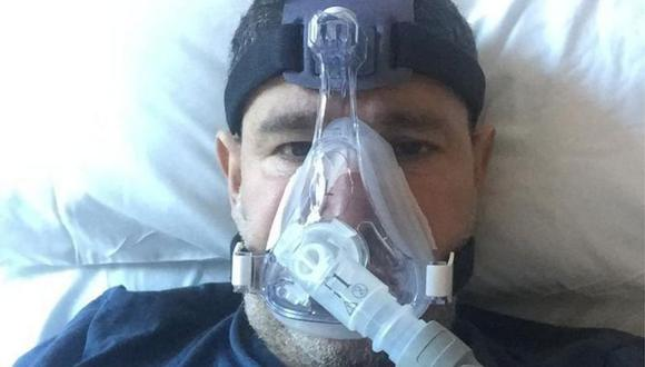 Abderrahmane Fadil se contagió de coronavirus covid-19 y estuvo varios días en el hospital con oxígeno.