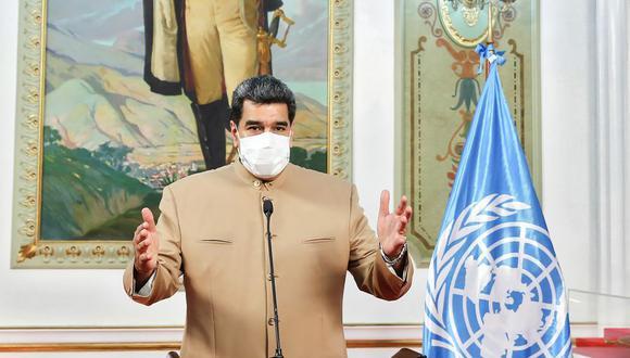El presidente de Venezuela, Nicolás Maduro, durante un mensaje televisado el 21 de setiembre. (AFP).