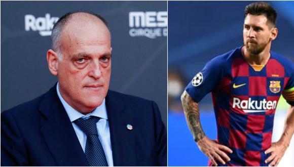 Presidente de LaLiga pidió respeta la mismas normas que el resto de clubes de la primera división de la liga española. (Fotos: EFE/AFP)
