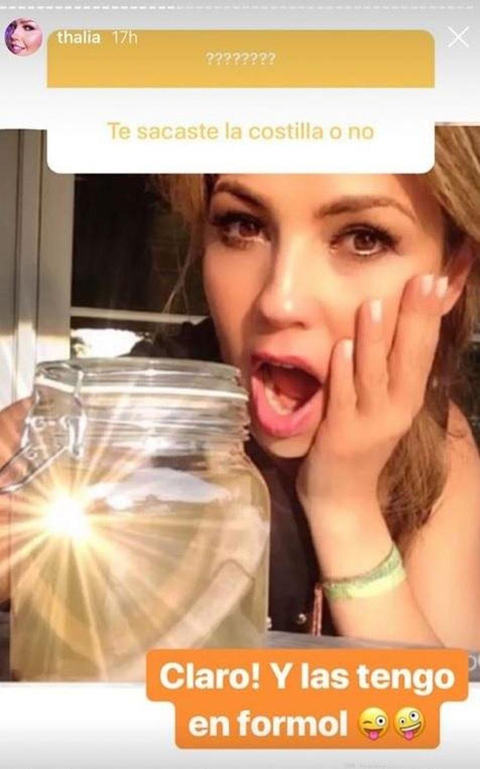Thalía habla sobre sus costillas. (Foto: Instagram)