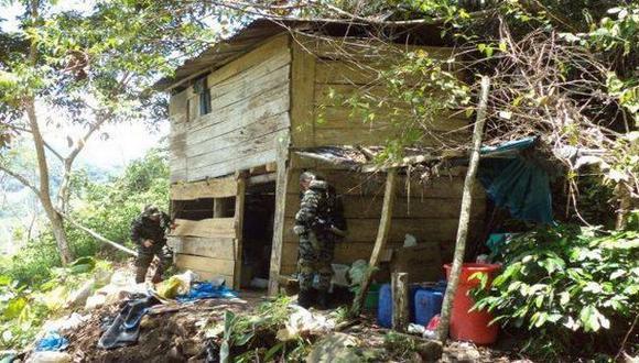 Vraem: hallan armamento en laboratorio clandestino de cocaína