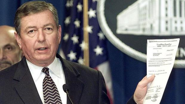 """Attorney General John Ashcroft described Lindh as """"an al-Qaeda-trained terrorist"""". (Getty Images)."""