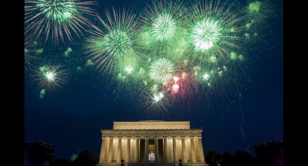 La gala por el 4 de Julio se celebró frente al frente al Monumento a Lincoln en Washington. (Fotos: Agencias)