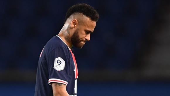 Neymar fue expulsado en su regreso a la competencia con PSG. (Foto: AFP)