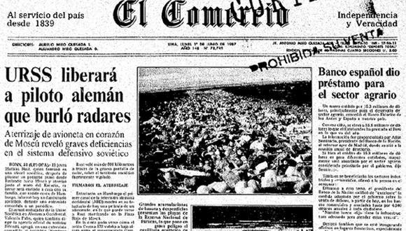 Así ocurrió: Alemán aterriza en la Plaza Roja de Moscú en 1987