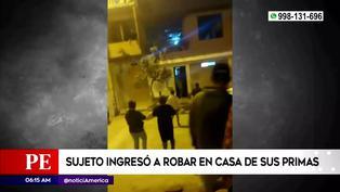 VMT: Capturan a ladrón que ingresó a la casa de su prima para robar