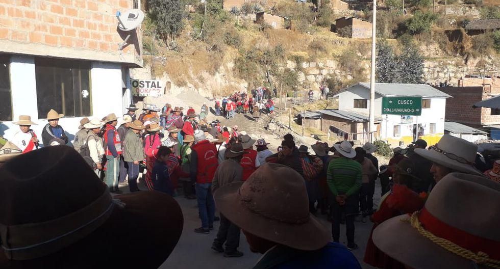 El 29 de setiembre, se acordó acatar un paro indefinido en Chumbivilcas. (Foto: cortesía)