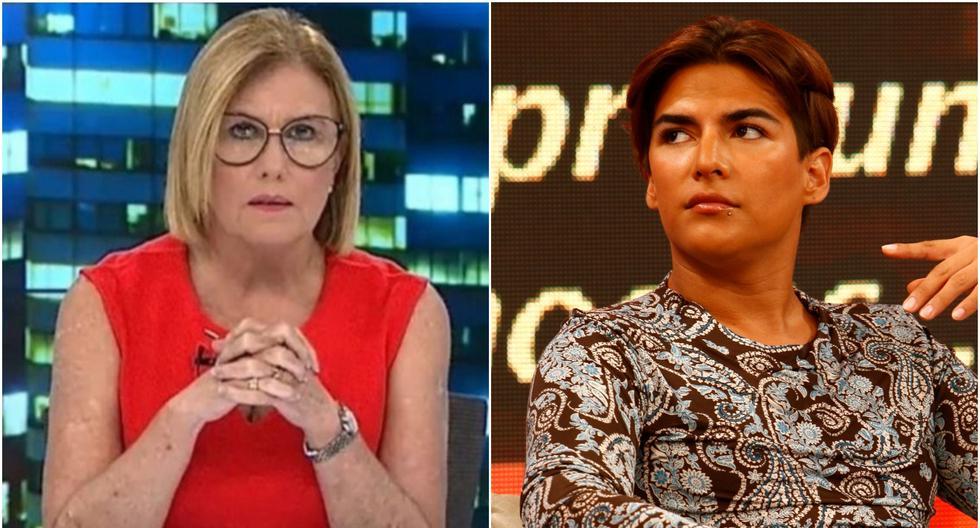 "Mónica Delta se pronunció a nombre de Latina tras las palabras del ""Zorro Zupe"". Fotos: Latina/ El Comercio."