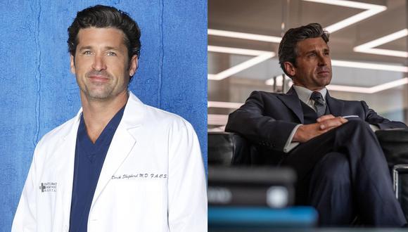 """A la izquierda, Patrick Dempsey como el Dr.Sheppard de """"Grey's Anatomy"""", serie donde el personaje falleció. A la derecha, como el banquero Dominic Morgan en """"Devils"""", de próximo estreno. (Créditos: Universal)"""