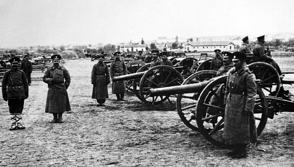 En este auténtico gráfico de sonido se recrean los instantes antes y después del armisticio en el Frente Occidental, grabado el 11 de noviembre de 1918, cerca del río Mosela. (Foto: EFE)