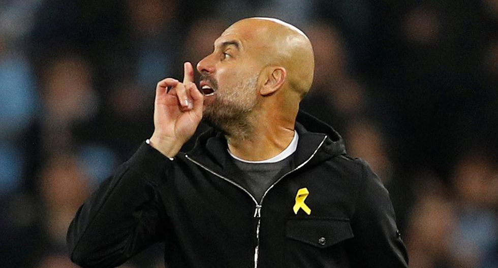 Pep Guardiola, DT del Manchester City. (Foto: Reuters)